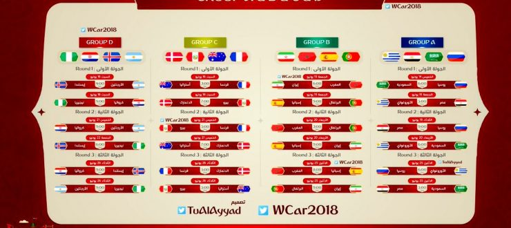 Photo of الجدول الكامل لمباريات كأس العالم 2018 في كرة القدم