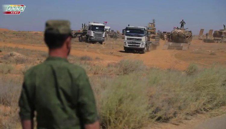 Photo of أضخم رتل عسكري للجيش يصل درعا (فيديو)