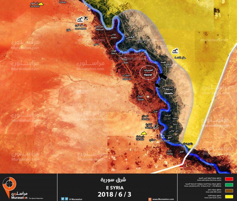 Photo of إحباط هجوم لداعش قرب البوكمال ( خريطة )
