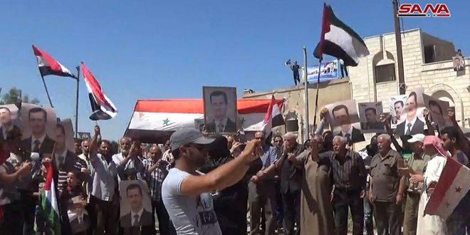 """Photo of بعد تحريرها.. بدء عودة أهالي بلدة """"علما"""" بريف درعا"""