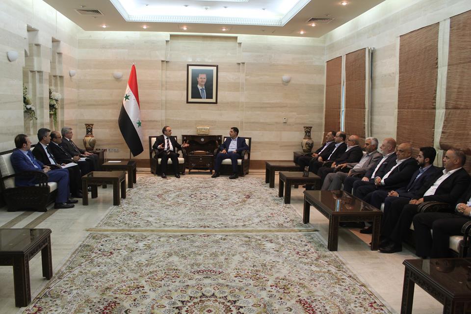 "Photo of مباحثات ""سورية- لبنانية"" في مجال التبادل الصناعي والاقتصادي"