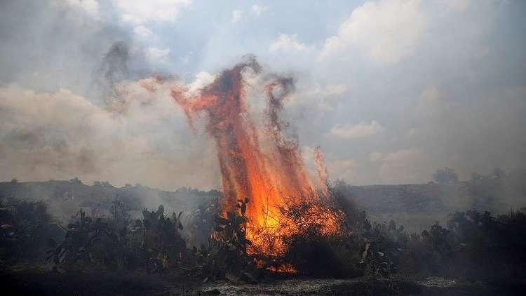 Photo of النيران تلتهم عشرات الدونمات في محيط غزة بفعل البالونات الفلسطينية الحارقة
