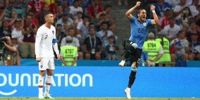 الأوروغواي تطيح ببطلة أوروبا من مونديال روسيا