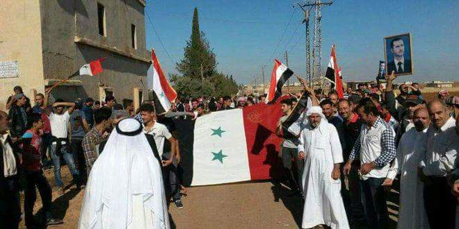 Photo of Popular gathering in al-Gharia al-Sharqia to support Syrian Army