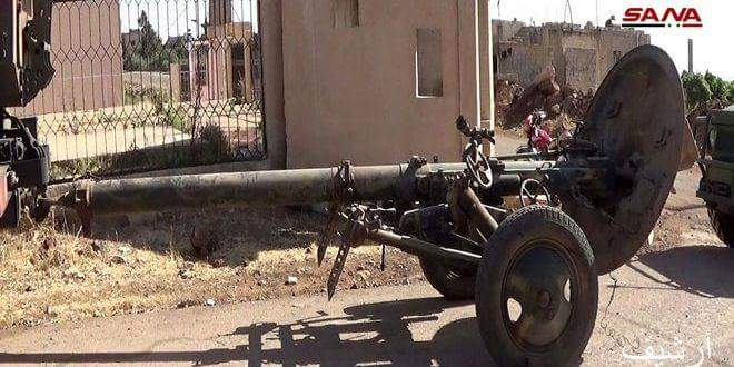 Photo of Armed groups continue to hand over more heavy weapons in Busra al-Sham, Daraa