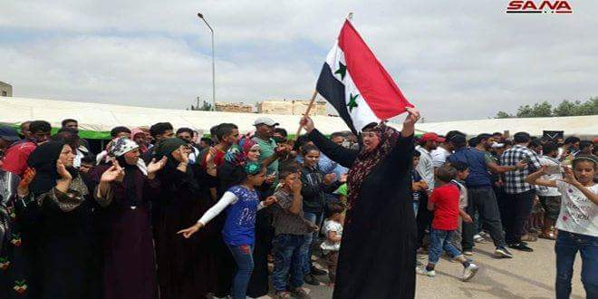 Photo of Popular qathering in Ghusem in Daraa Countryside in support of Syrian Arab Army