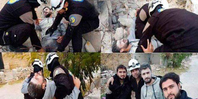 "Photo of Israeli entity smuggles 800 members of ""White Helmets"" from southern Syria to Jordan"