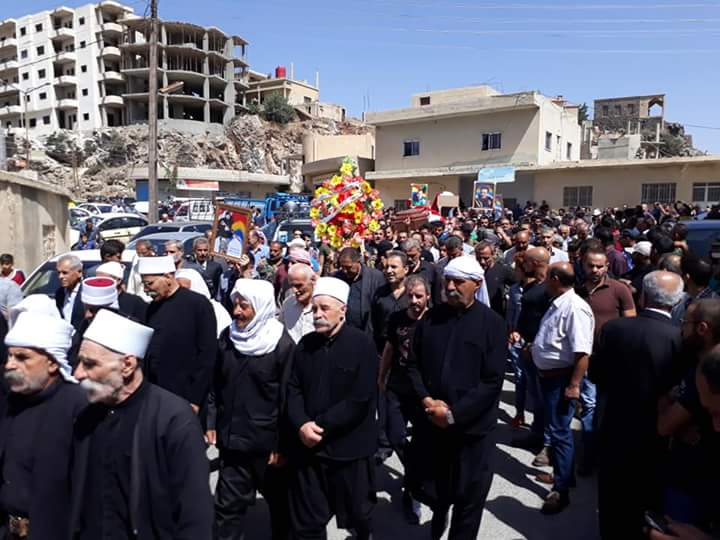 Photo of Massive popular funeral ceremony for martyrs of terrorist attacks on Sweida