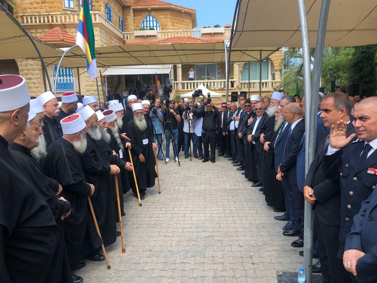 Photo of بالصور- موقف العزاء الذي أٌقيم في لبنان يوم أمس لشهداء السويداء