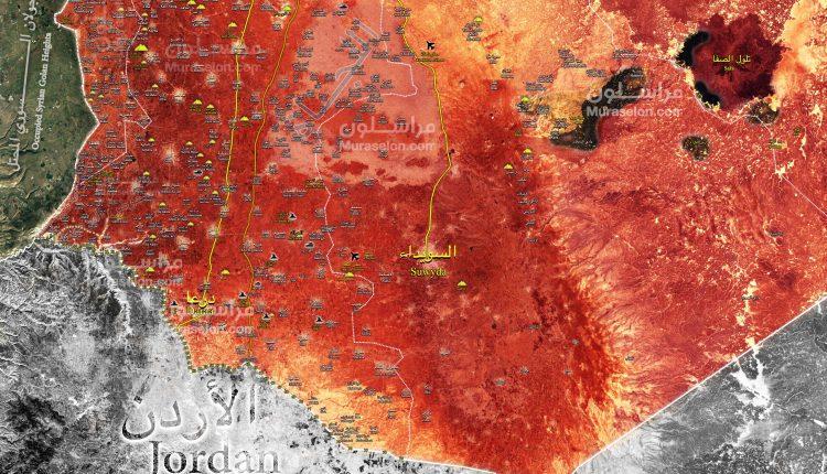 """Photo of """"الجنوب السوي"""" بالكامل بعهدة الجيش- خريطة"""