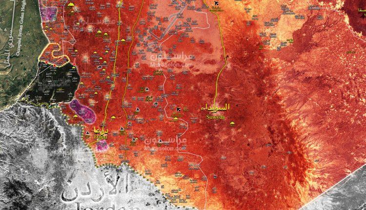 Photo of خريطة-  الجيش يٌحرر21 بلدة وقرية في ريفي القنيطرة ودرعا