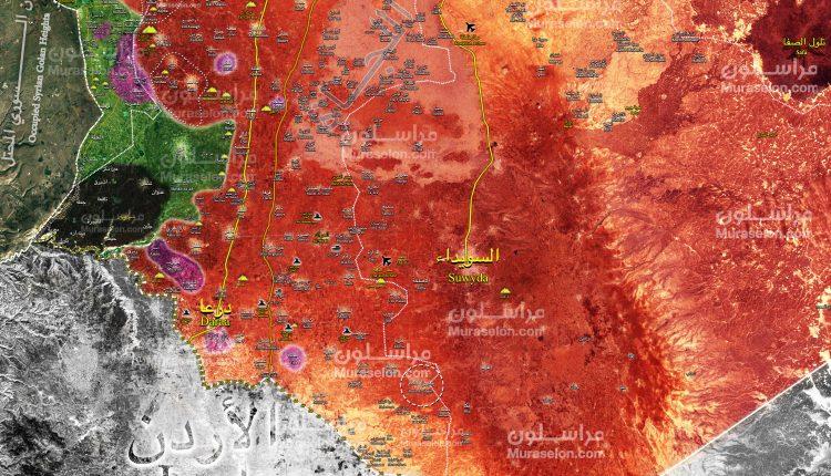 Photo of خريطة- الجيش يٌحرر 6 بلدات و3 تلال في الجنوب السوري