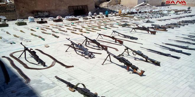 Photo of Authorities discover western and Israeli-made weapons in Homs countryside