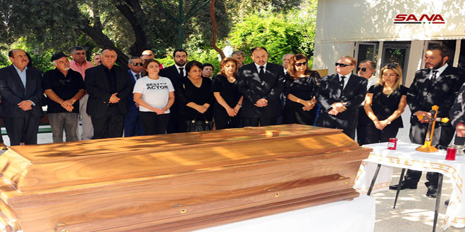 Photo of Body of great novelist Hanna Mina escorted to final resting place in Lattakia