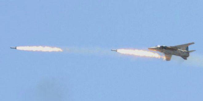 Photo of سلاح الجو يقصف موقعاً لداعش ببداية السويداء