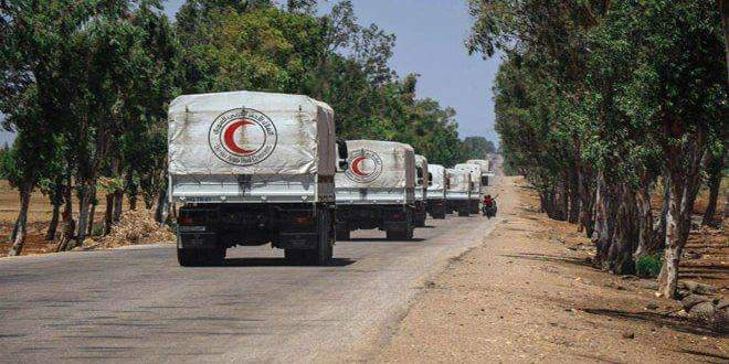 Photo of Aid distributed among locals in Hamidiya area in Quneitra countryside