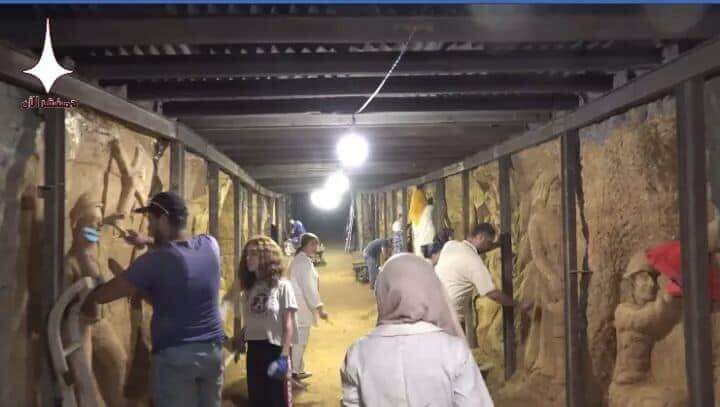 Photo of تحويل أحد الأنفاق في جوبر لتحف فنية