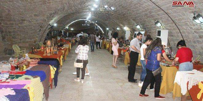 """Photo of Art exhibition """"Hand in Hand to Build Syria"""" held in Tartous"""