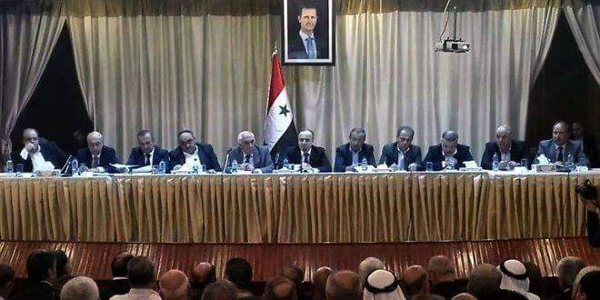 Photo of             Upon directives of President al-Assad, government delegation visits Daraa