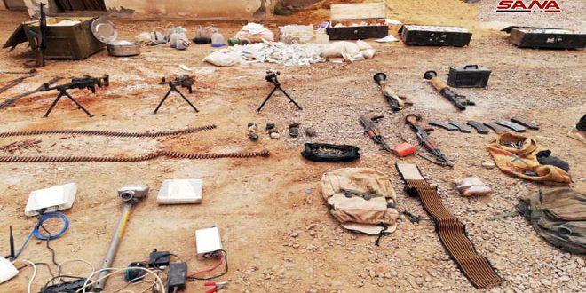 Photo of العثور على كميات كبيرة من الأسلحة في بادية حمص