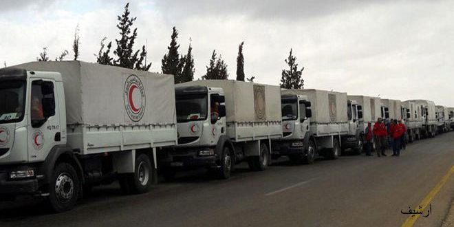 Photo of A medical aid plane, provided by the UAE Red Crescent to the Syrian Arab Red Crescent, arrives in Damascus