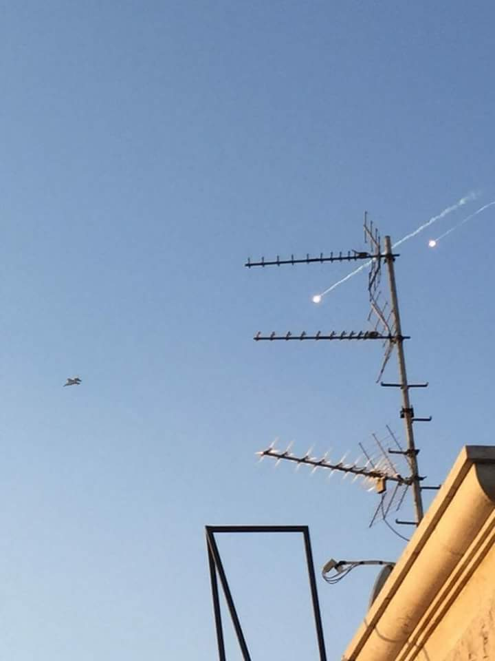 Photo of Army air defense intercepts an Israeli aggression on sites in Tartous, Hama and downs a number of the missiles