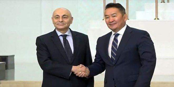 Photo of Mongolian President pleased with Syria's success in clearing most of its territory from terrorism