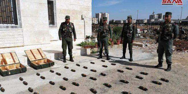 Photo of Authorities discover ammunition and shells left behind terrorists in Homs