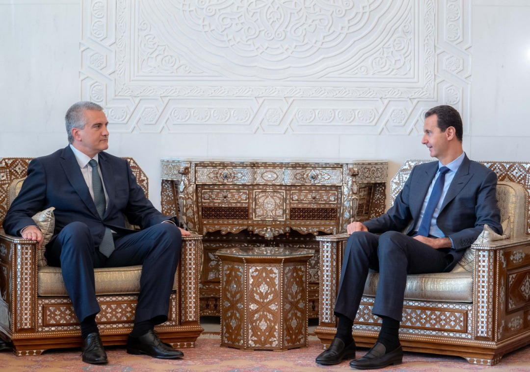 Photo of President al-Assad receives President of the Crimean Republic Sergei Aksyonov