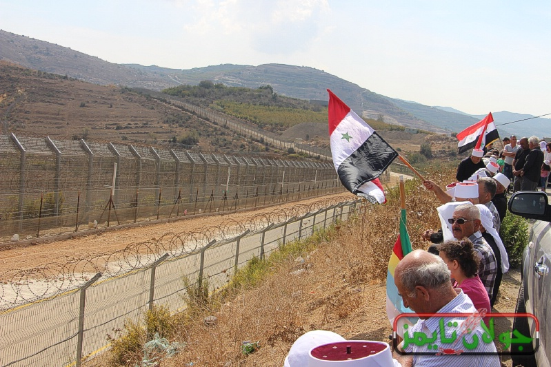 Photo of Popular festival in Ein al-Tina overlooking occupied Golan marking 45th anniversary of October Liberation War