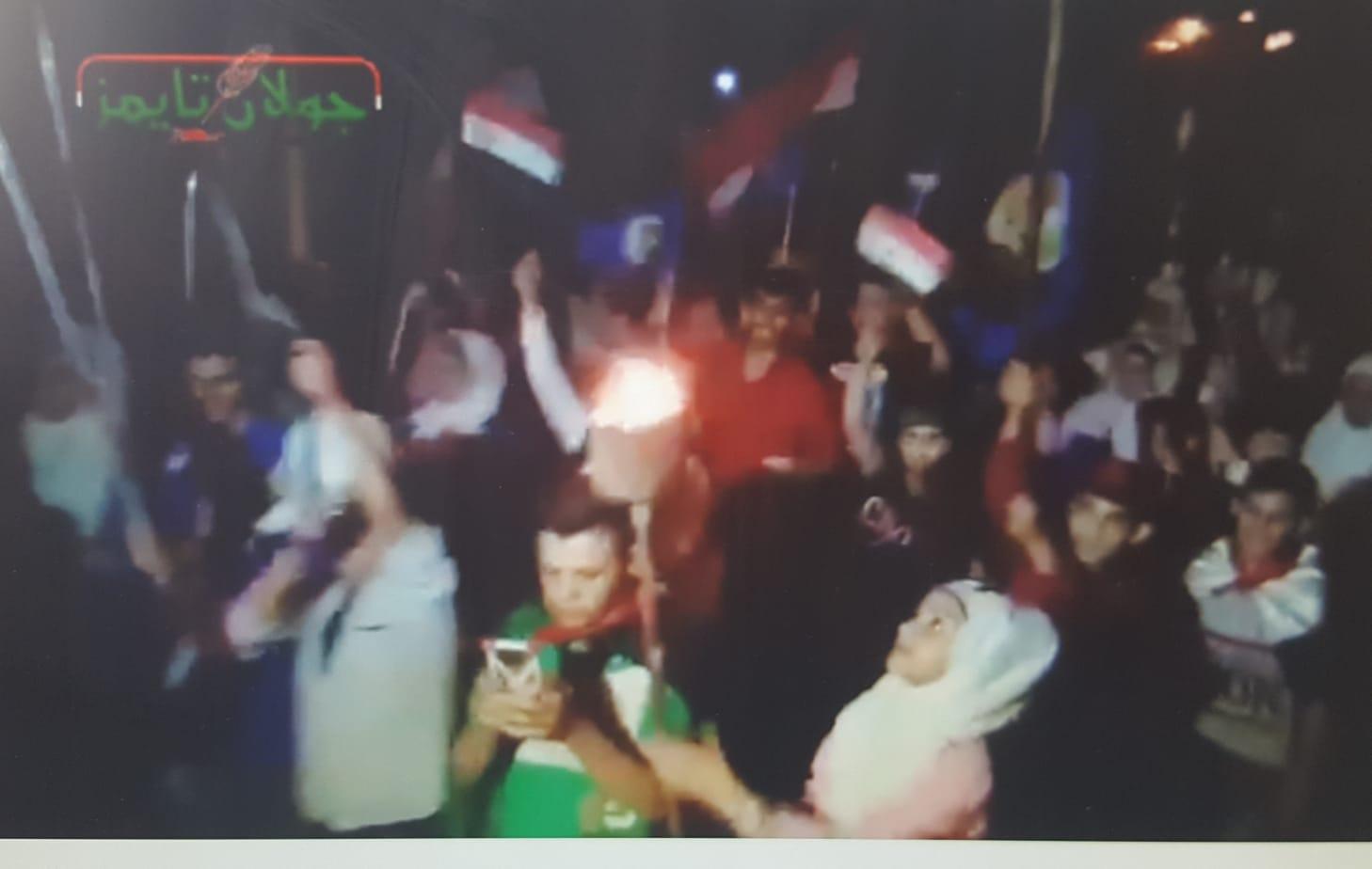 Photo of مسيرة مشاعل من البعث لخان ارنبه دعما للجيش العربي السوري