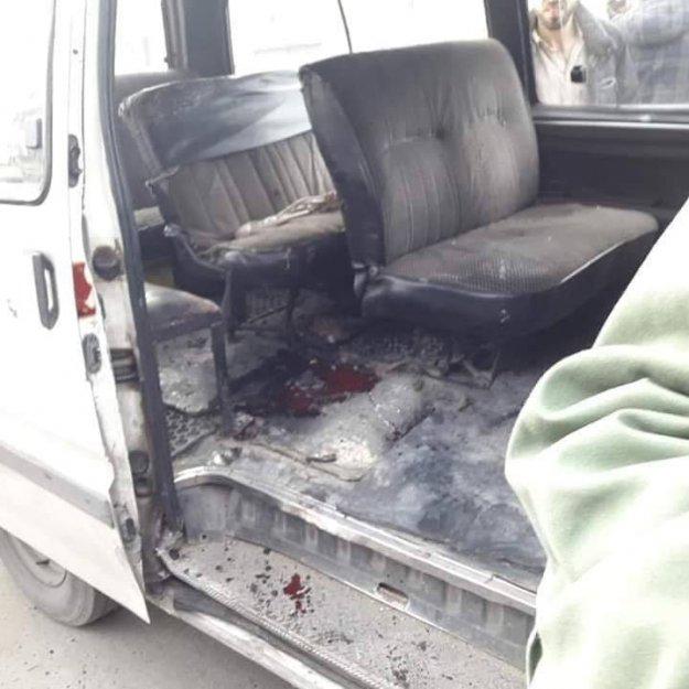 Photo of ستة إصابات بانفجار قنبلة داخل حافلة نقل ركاب بحي الزهراء في حمص