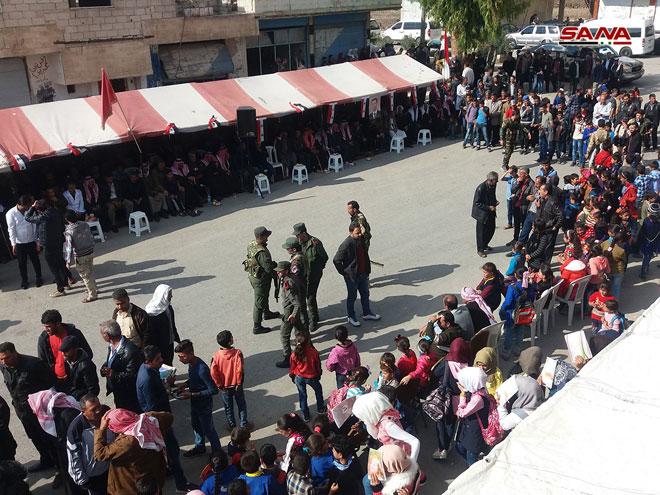Photo of Festivity celebrates liberation of Nabea al-Sakher town in Quneitra from terrorism