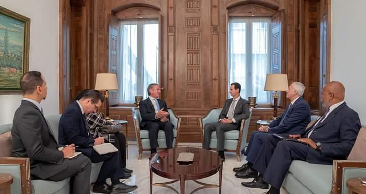Photo of الأسد يستقبل وفداً برازيلياً