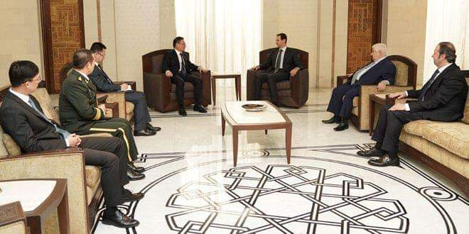 Photo of President al-Assad accepts credentials of new Chinese and Cuban ambassadors