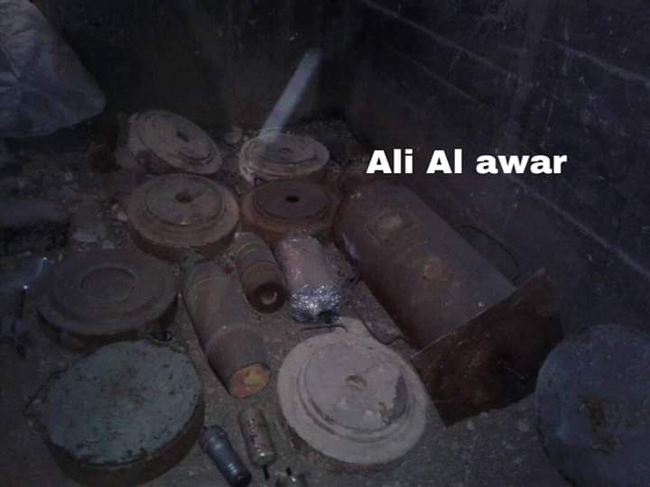 Photo of Authorities find IEDs, landmines, and shells left behind by terrorists in Damascus Countryside