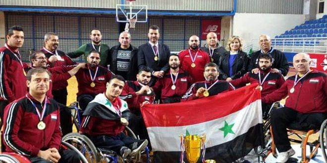 Photo of Gold, bronze medals for Damascus team in 3rd Arab tournament of special sports
