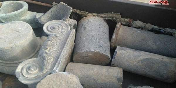 Photo of One hundred and three archeological pieces prepared for smuggling seized in Daraa countryside