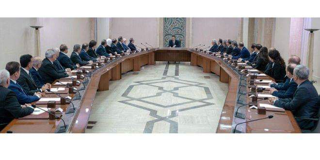 Photo of President al-Assad swears in new ministers, affirms priority is to combat corruption