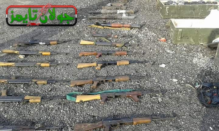 Photo of Weapons, ammo left behind by terrorists found in Daraa countryside