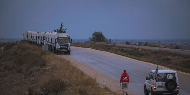 Photo of SARC distributes 4 thousand food baskets among locals in Daraa western countryside
