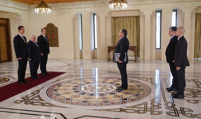 Photo of الرئيس الأسد يتقبل أوراق اعتماد سفراء جدد بسوريا