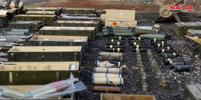 "Photo of العثور على ""أسلحة أمريكية"" في بلدة نصيب الحدودية"