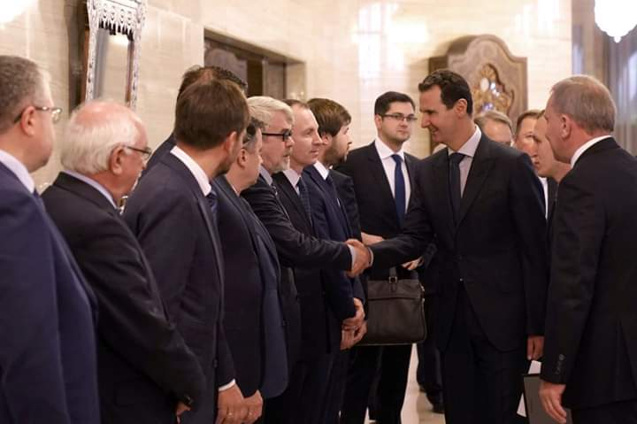 Photo of President al-Assad receives  Russian  governmental delegation
