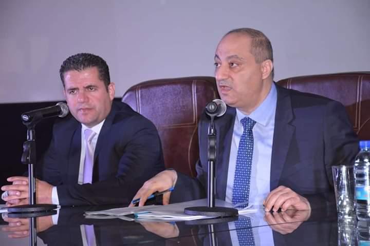 Photo of وزير الإعلام عماد سارة في ندوة بجامعة تشرين تحدث فيها عن وسائل الإعلام الوطنية وتغطيتها