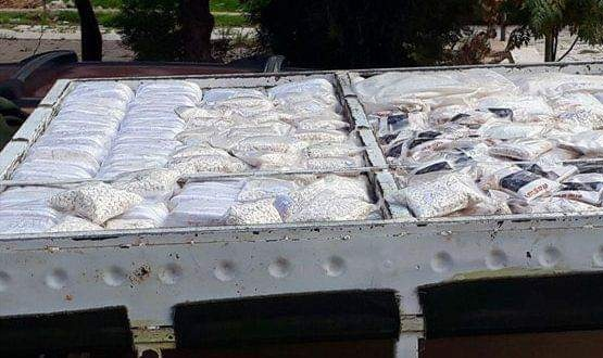 Photo of Car loaded with amounts of narcotic Hashish and Captagon seized
