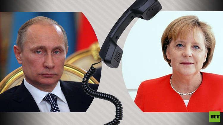 Photo of بوتين يبحث الأوضاع في سوريا مع ميركل