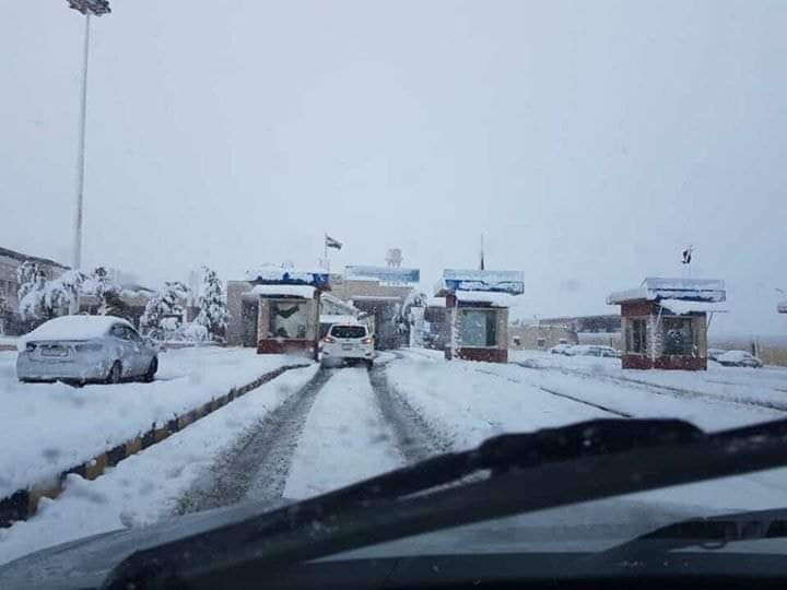 "Photo of ""نورما"" تٌغلق الطريق الدولي بين سوريا ولبنان"