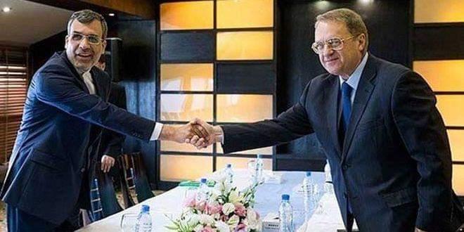 Photo of Bogdanov, Jaberi Ansari discuss situation in Syria