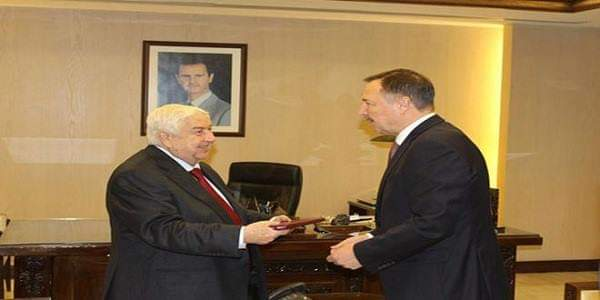 Photo of Al-Moallem receives credentials of Russia's newly-appointed Ambassador to Syria